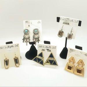 ❇️Ethel & Myrtle - Jewelry Earring Lot of 5 ❇️